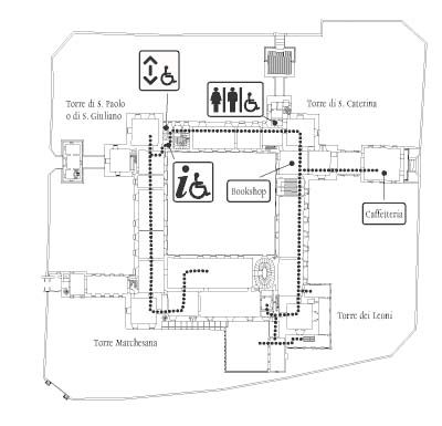Differently abled map - ground floor