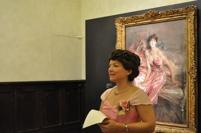 Boldini donna in rosa grande