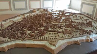 Plastico della città di Ferrara  - castello estense