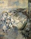 G. Boldini, Due cavalli bianchi, c. 1881-86
