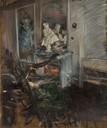 G. Boldini, Il cardinale del Bernini nella camera del pittore, c. 1899