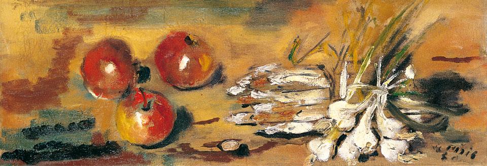 Natura morta con agli, 1930
