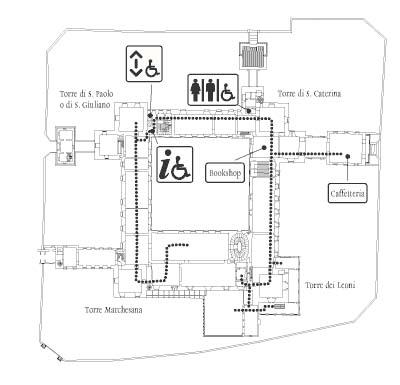 Mappa disabili piano terra
