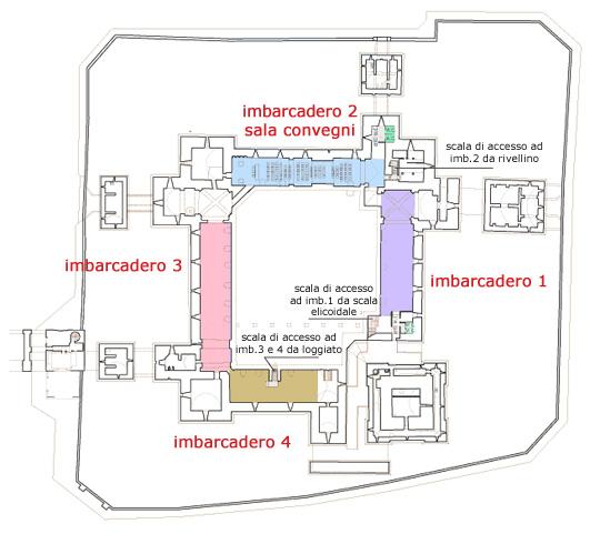 Mappa degli imbarcaderi