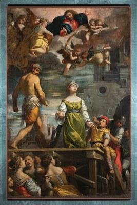 Ippolito Scarsella detto Scarsellino (1551-1620), Martirio di Santa Margherita, 1611