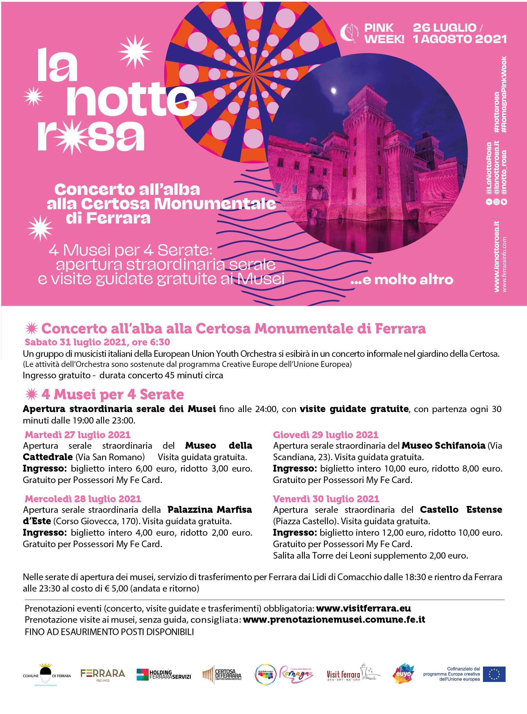 NOTTE ROSA - 4 musei per 4 serate